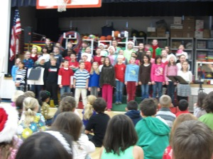 5th Grade Chorus leading with beautiful songs of the season.