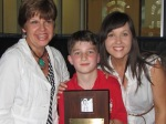 Mrs. Connery and Mrs. Longo presented the award to Dan.