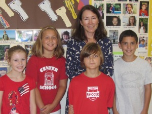 5th grade ambassadors with Marianne.